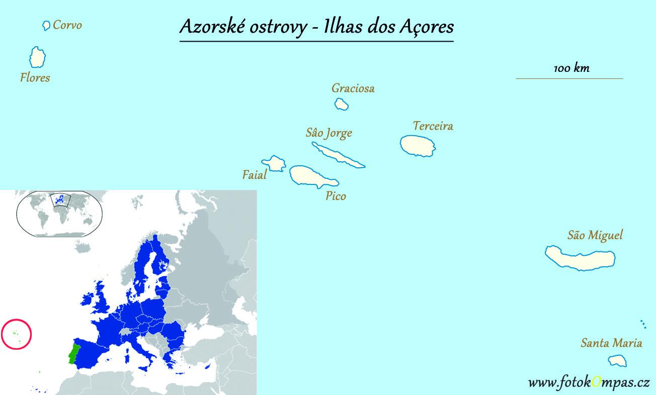 Azory mapa