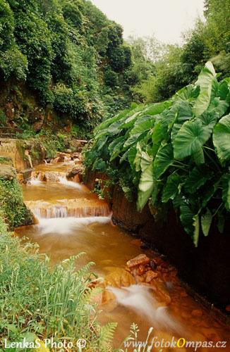 Azory São Miguel červená řeka