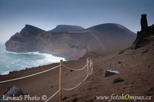 Cestopis z Azor na Faialu v Capelinhos