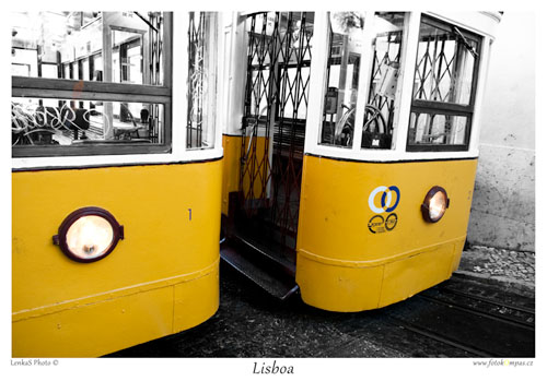Lisabonské památky a lanovka Glória