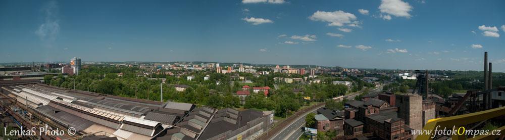 Panorama Ostravy z vysoké pece